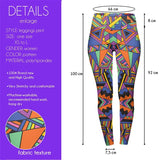 Block Geo Tribal High Waisted Leggings-Wholesale Women's Leggings, Wholesale Plus Size , Wholesale Fashion Clothing