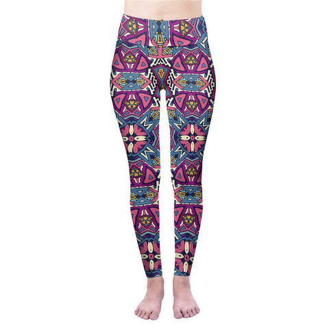 Ethnic Princess High Waisted Leggings-Wholesale Women's Leggings, Wholesale Plus Size , Wholesale Fashion Clothing