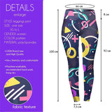 Geo Metric Pop High Waisted Leggings-Wholesale Leggings UK- Wholesale Women's Clothing- Kukubird Creative Studio