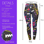 Sketch Neo Pop High Waisted Leggings-Wholesale Women's Leggings, Wholesale Plus Size , Wholesale Fashion Clothing