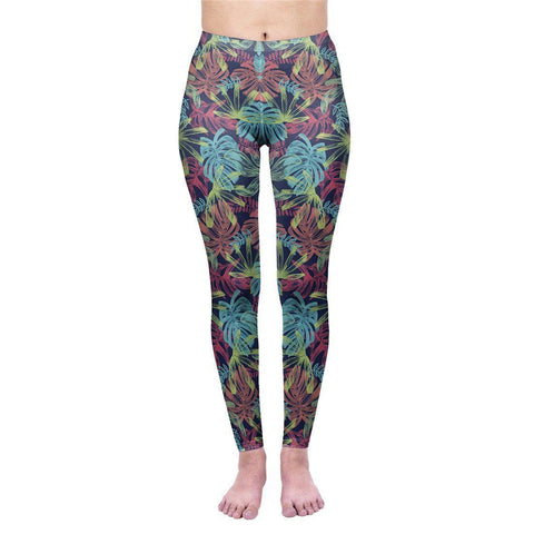 Colourful Tropics Regular Leggings-Wholesale Women's Leggings, Wholesale Plus Size , Wholesale Fashion Clothing
