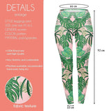 Pink tropical Regular Leggings.-Wholesale Leggings UK- Wholesale Women's Clothing- Kukubird Creative Studio