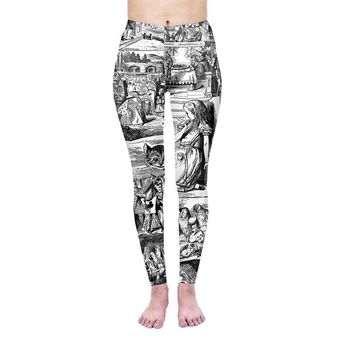 Through the Looking Glass Regular Leggings-Wholesale Women's Leggings, Wholesale Plus Size , Wholesale Fashion Clothing