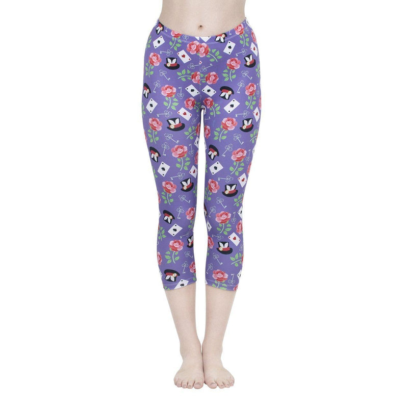 Wonderland Capri Leggings-Kukubird Creative Studio