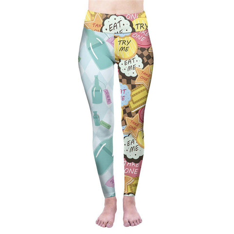 Eat me Drink me High Waisted Leggings-Wholesale Women's Leggings, Wholesale Plus Size , Wholesale Fashion Clothing
