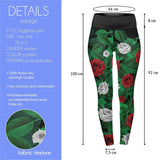 Paint the Rose Red High Waisted Leggings-Wholesale Women's Leggings, Wholesale Plus Size , Wholesale Fashion Clothing