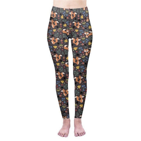 Peculiar Fox High Waisted Leggings-Wholesale Women's Leggings, Wholesale Plus Size , Wholesale Fashion Clothing