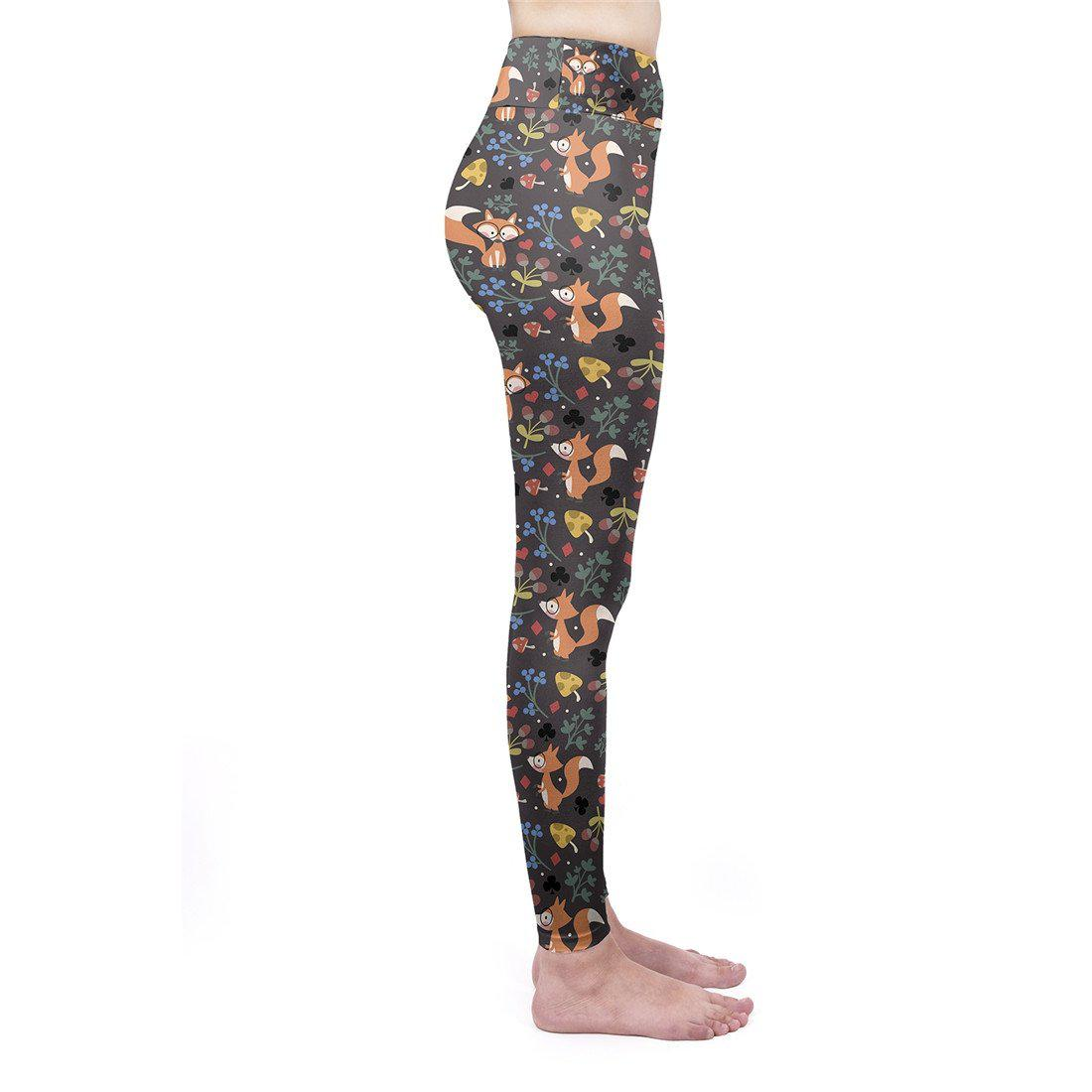 Peculiar Fox High Waisted Leggings