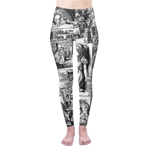 Through the Looking Glass High Waisted Leggings-Wholesale Women's Leggings, Wholesale Plus Size , Wholesale Fashion Clothing