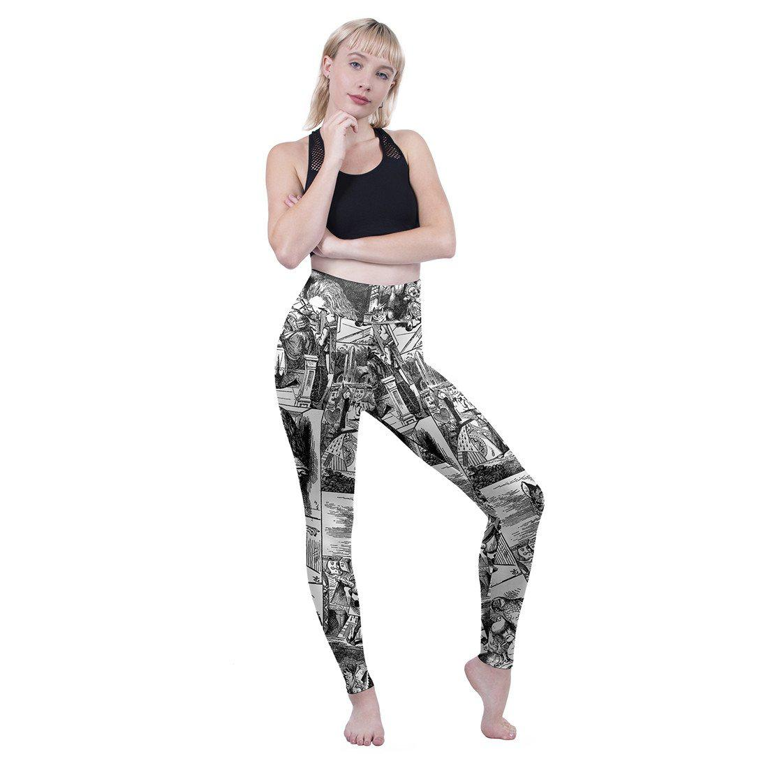 Through the Looking Glass High Waisted Leggings-Wholesale Leggings UK- Wholesale Women's Clothing- Kukubird Creative Studio