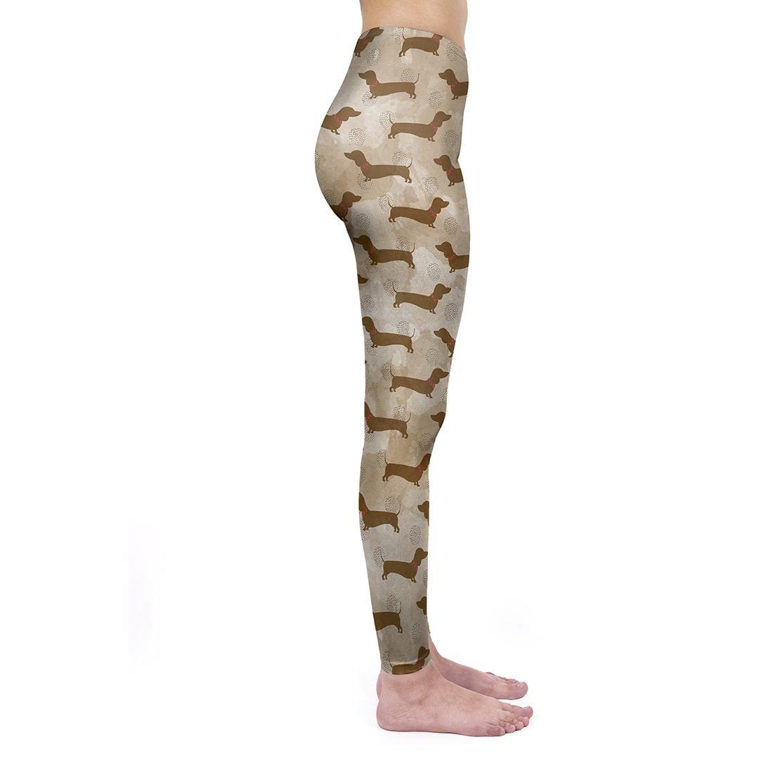 Coffee Dachshunds Regular Leggings