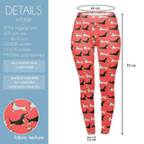 Kissing Dachshunds Regular Leggings-Wholesale Women's Leggings, Wholesale Plus Size , Wholesale Fashion Clothing