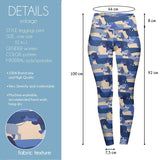 Blue Dachshunds High Waisted Leggings-Wholesale Women's Leggings, Wholesale Plus Size , Wholesale Fashion Clothing