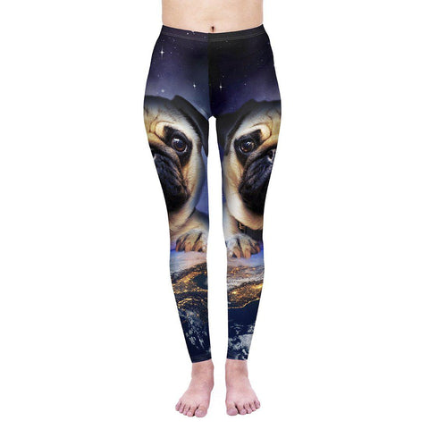 Pug On Earth Regular Leggings-Wholesale Leggings UK- Wholesale Women's Clothing- Kukubird Creative Studio