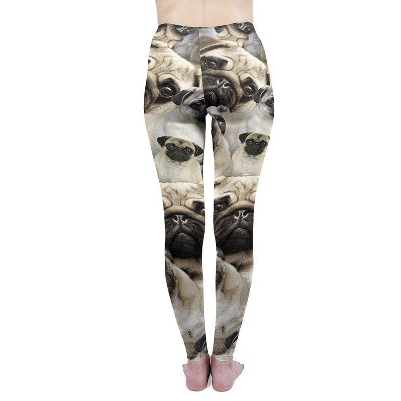 Pug pile Regular Leggings.