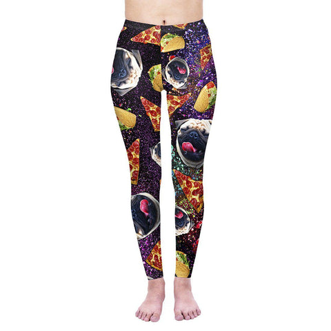 Trippy Junk Pug Regular Leggings-Wholesale Women's Leggings, Wholesale Plus Size , Wholesale Fashion Clothing