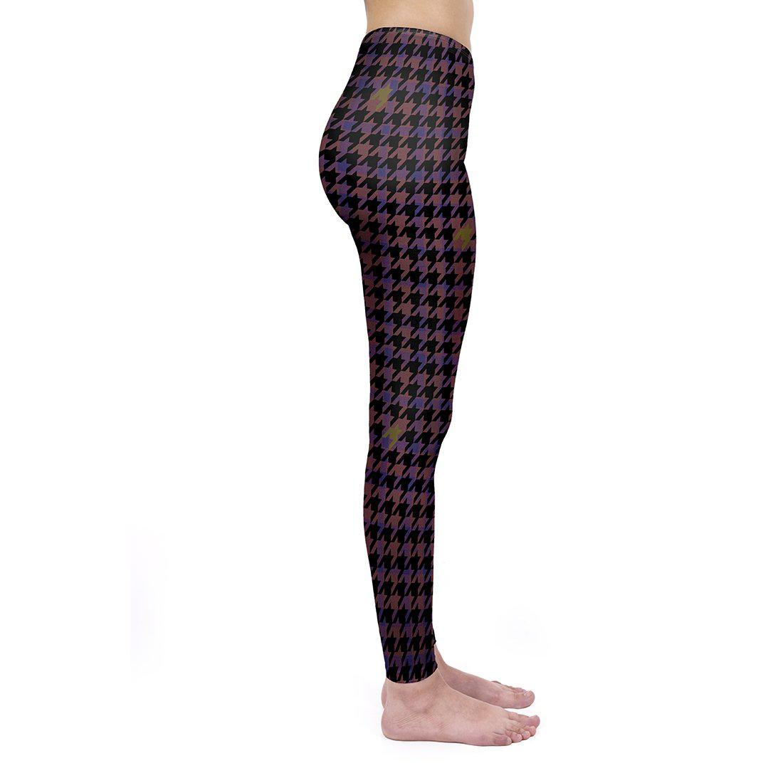 Magenta Dogtooth Regular Leggings