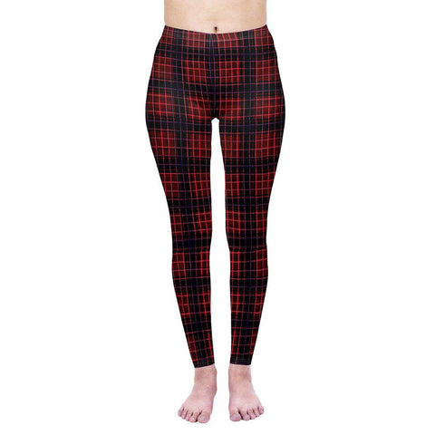 Warm Plaid Regular Leggings-Wholesale Women's Leggings, Wholesale Plus Size , Wholesale Fashion Clothing