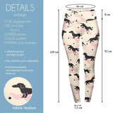 Love Polka-dot Dachshunds High Waisted Leggings-Wholesale Women's Leggings, Wholesale Plus Size , Wholesale Fashion Clothing