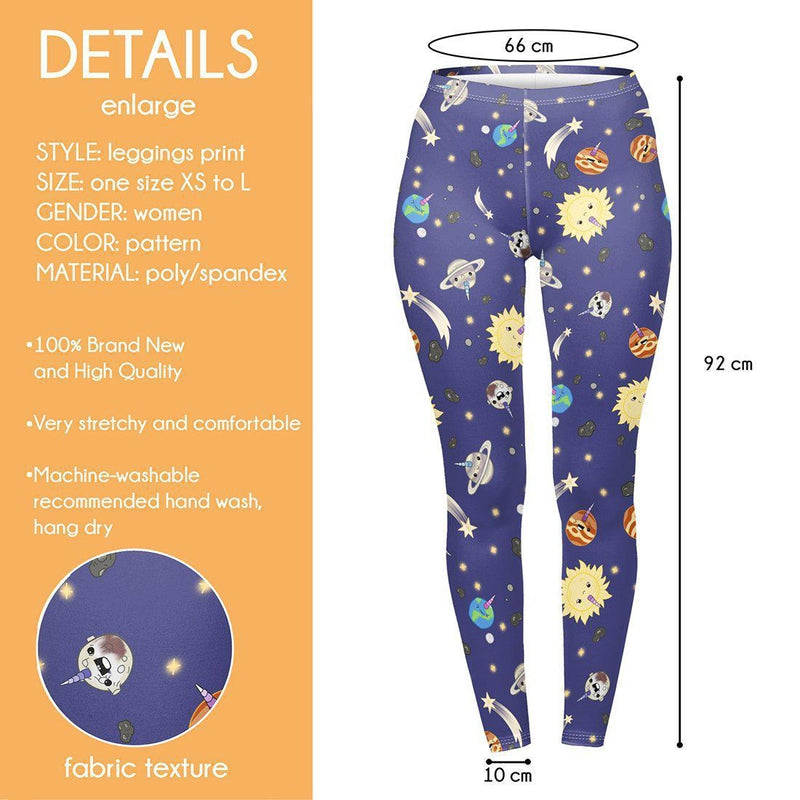 galaxycorn Regular Leggings.-Wholesale Leggings UK- Wholesale Women's Clothing- Kukubird Creative Studio