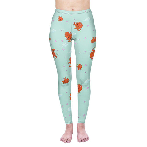 Octocorn Regular Leggings-Wholesale Women's Leggings, Wholesale Plus Size , Wholesale Fashion Clothing