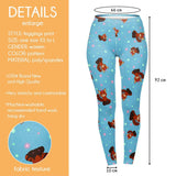 Red Pandacorn Regular Leggings-Wholesale Women's Leggings, Wholesale Plus Size , Wholesale Fashion Clothing