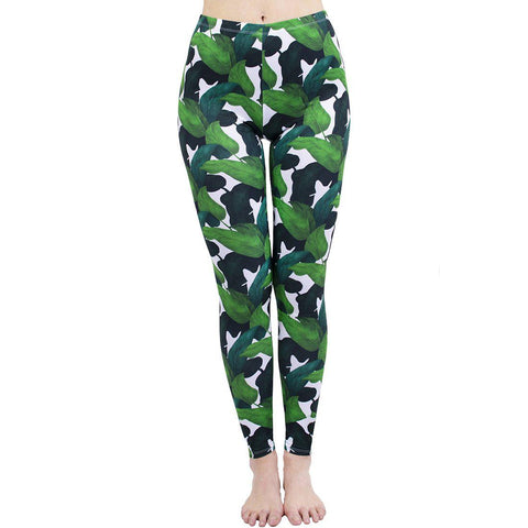 Banana Leaf Regular Leggings-Wholesale Women's Leggings, Wholesale Plus Size , Wholesale Fashion Clothing