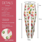 Tropical Fruits High Waisted Leggings-Wholesale Women's Leggings, Wholesale Plus Size , Wholesale Fashion Clothing