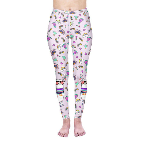 Funny Lama Regular Leggings-Wholesale Women's Leggings, Wholesale Plus Size , Wholesale Fashion Clothing