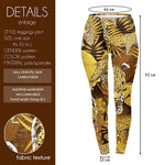 Golden Tropical Leopard Regular Leggings-Wholesale Women's Leggings, Wholesale Plus Size , Wholesale Fashion Clothing
