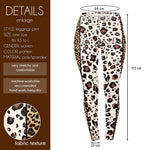 Leopard with gold stripe Regular Leggings-Wholesale Women's Leggings, Wholesale Plus Size , Wholesale Fashion Clothing