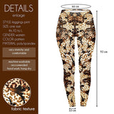 Light Ornate Leopard Regular Leggings-Wholesale Women's Leggings, Wholesale Plus Size , Wholesale Fashion Clothing