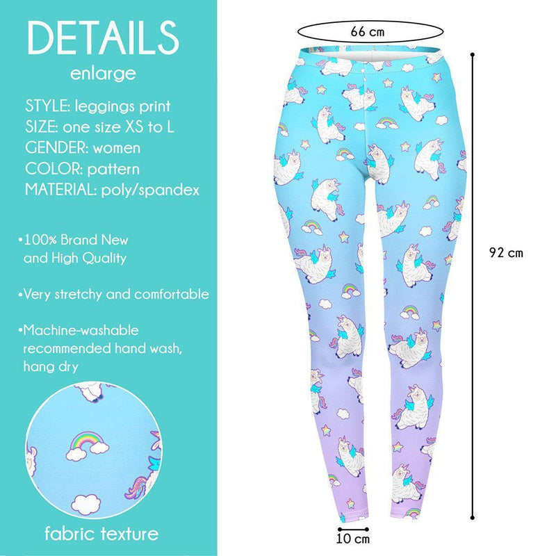 Unicorn Llama Regular Leggings