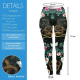 Secret garden Regular Leggings-Wholesale Women's Leggings, Wholesale Plus Size , Wholesale Fashion Clothing