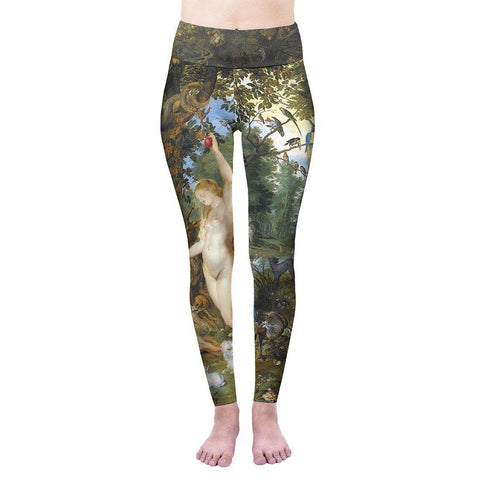 Garden Of Eden High Waisted Leggings-Wholesale Leggings UK- Wholesale Women's Clothing- Kukubird Creative Studio