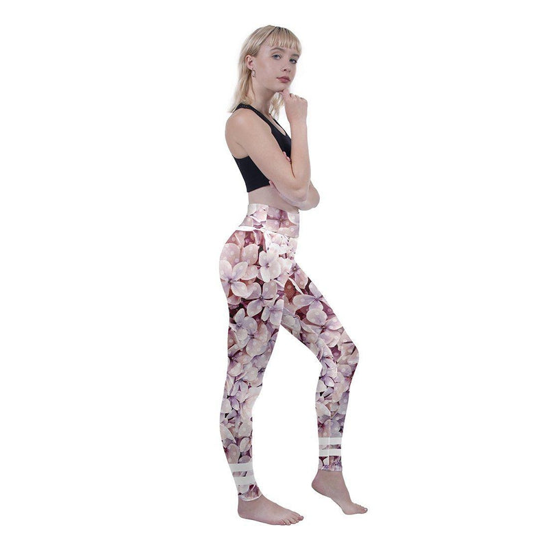 Polka-Dot Floral High Waisted Leggings