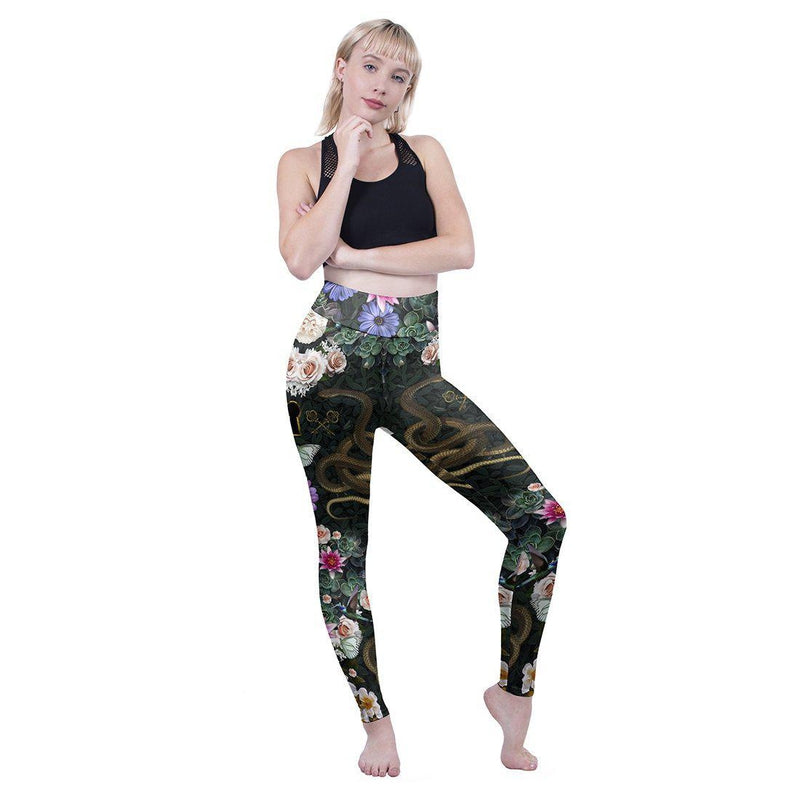 Secret Gardens High Waisted Leggings-Wholesale Leggings UK- Wholesale Women's Clothing- Kukubird Creative Studio