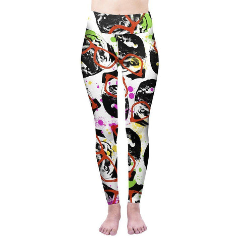 Graffiti Pug High Waisted Leggings-Wholesale Women's Leggings, Wholesale Plus Size , Wholesale Fashion Clothing