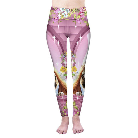 Princess Pugrell High Waisted Leggings-Wholesale Women's Leggings, Wholesale Plus Size , Wholesale Fashion Clothing