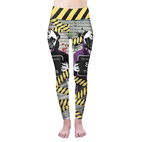 Pug Shot High Waisted Leggings-Wholesale Women's Leggings, Wholesale Plus Size , Wholesale Fashion Clothing
