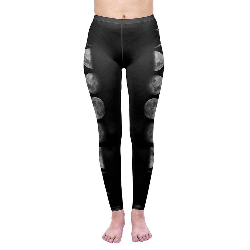 Luna Phase Regular Leggings-Wholesale Leggings UK- Wholesale Women's Clothing- Kukubird Creative Studio