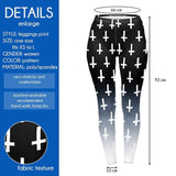 Unholy Cross Black Regular Leggings-Wholesale Women's Leggings, Wholesale Plus Size , Wholesale Fashion Clothing