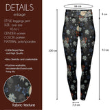 Deadly Flowers High Waisted Leggings-Wholesale Women's Leggings, Wholesale Plus Size , Wholesale Fashion Clothing