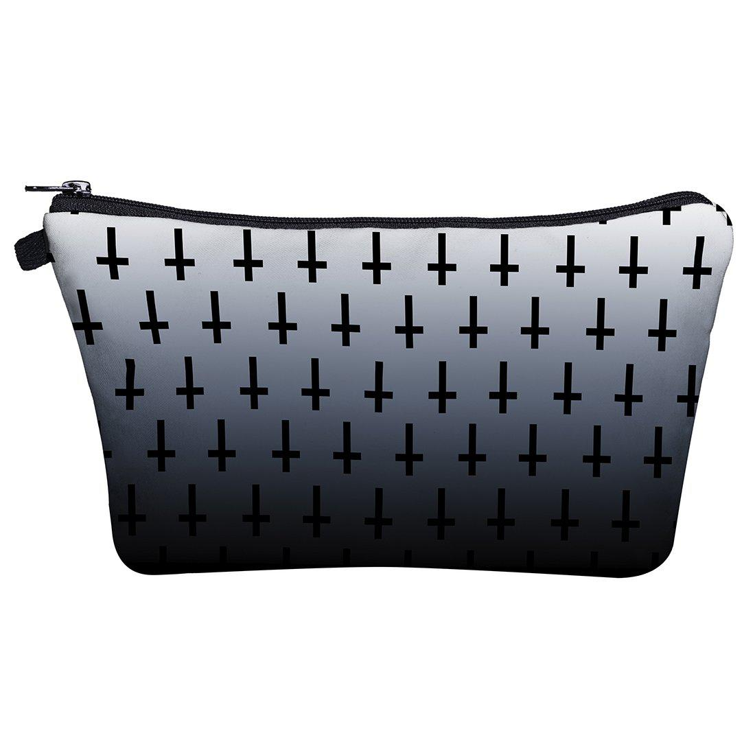 Unholy Cross White Make Up Bags