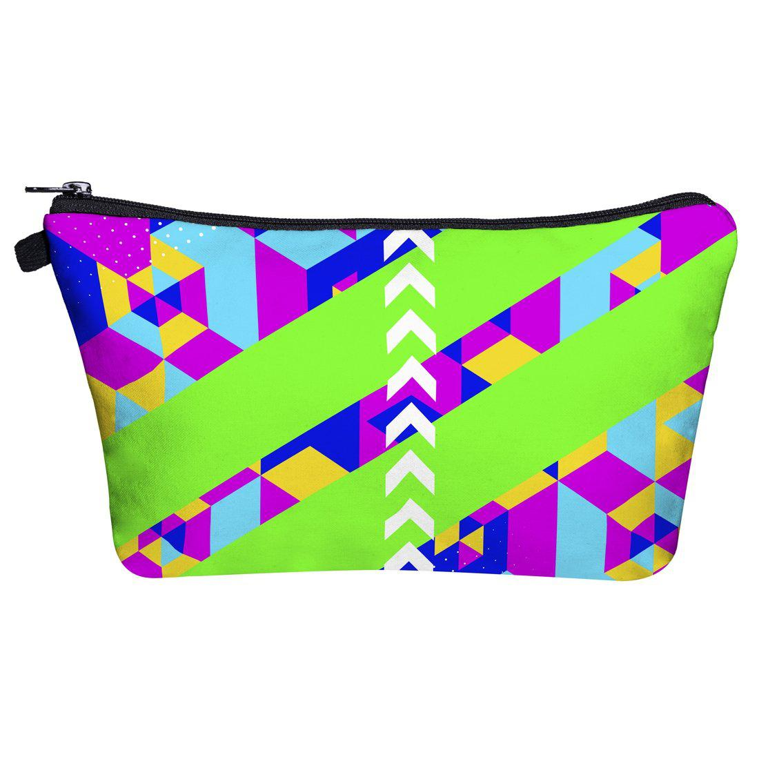Geo Cubic Make Up Bags