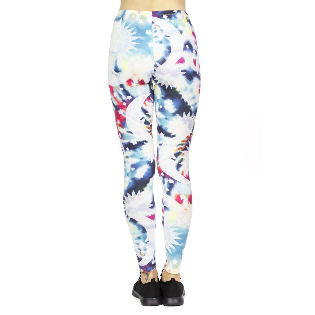 Amori Shibori Moon And Stars Regular Leggings