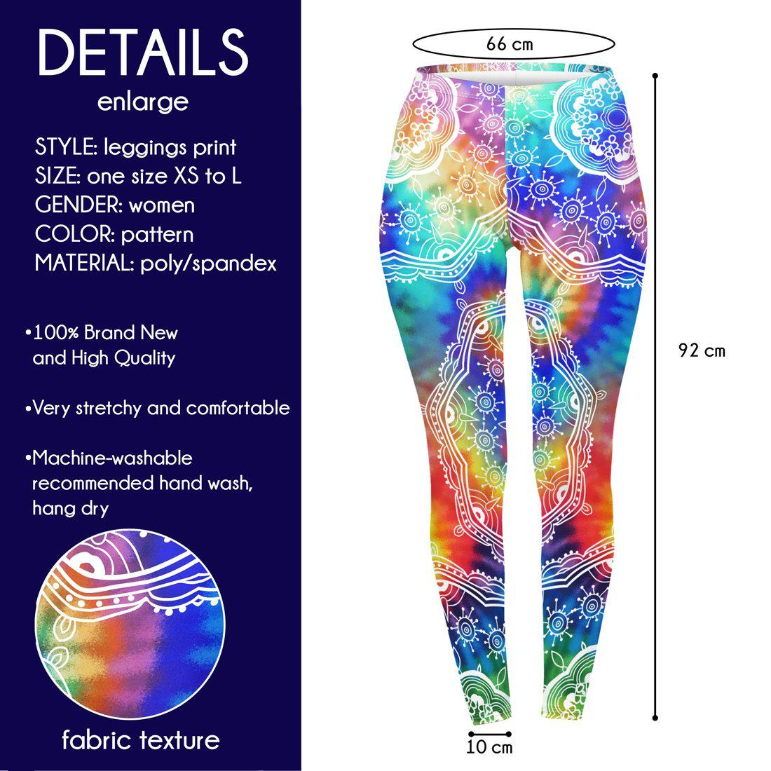 California Shambala Regular Leggings-Wholesale Leggings UK- Wholesale Women's Clothing- Kukubird Creative Studio