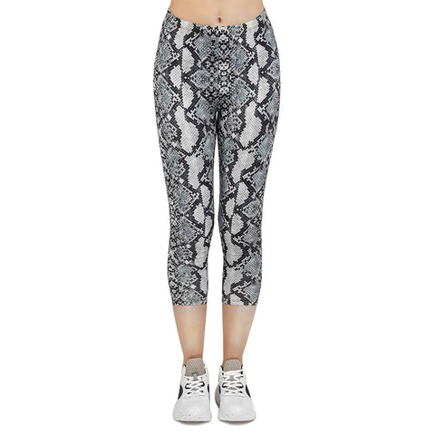Snake skin Classic Grey Capri Leggings-Wholesale Women's Leggings, Wholesale Plus Size , Wholesale Fashion Clothing