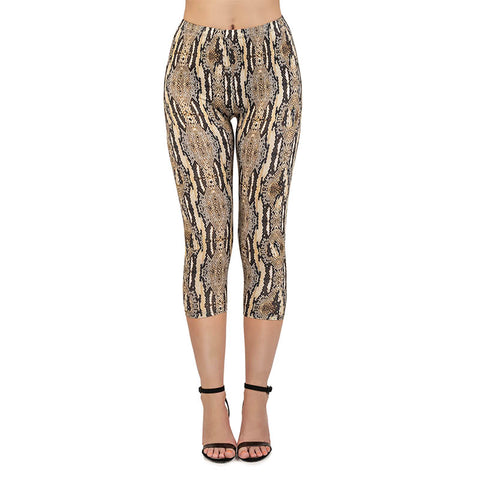 Snek Capri Leggings-Wholesale Women's Leggings, Wholesale Plus Size , Wholesale Fashion Clothing