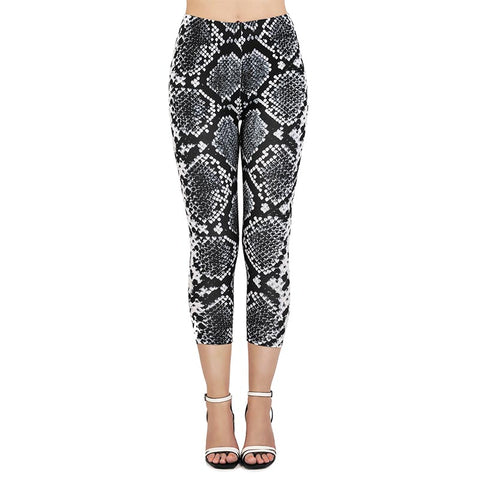 Silver Sliver Capri Leggings-Wholesale Women's Leggings, Wholesale Plus Size , Wholesale Fashion Clothing